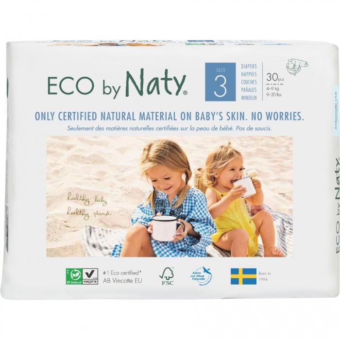 Autiņbiksītes N3, 4-9kg, 30 gab, ECO BY NATY