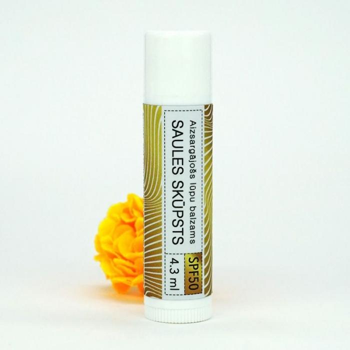 Saules skūpsts aizsargājošs lūpu balzms SPF50 AROMAMA 4,3ml
