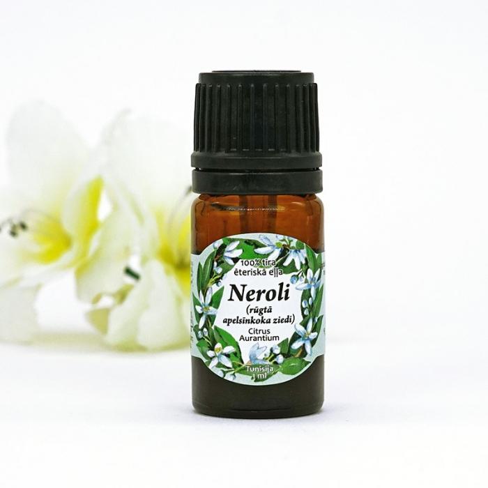 Neroli (rūgtā apelsīnkoka ziedu) eteriskā eļļa AROMAMA 1ml