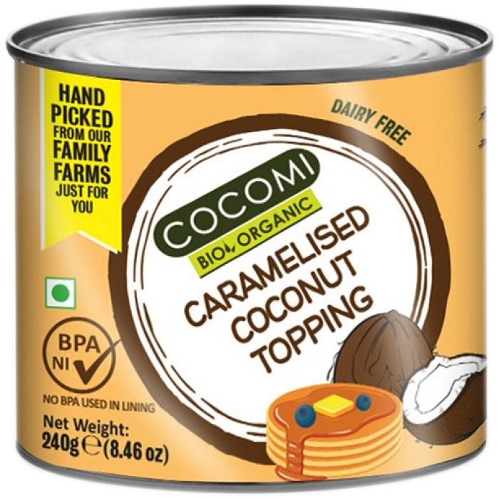 Karamelizēta kokosriekstu mērce BIO, COCOMI 240g
