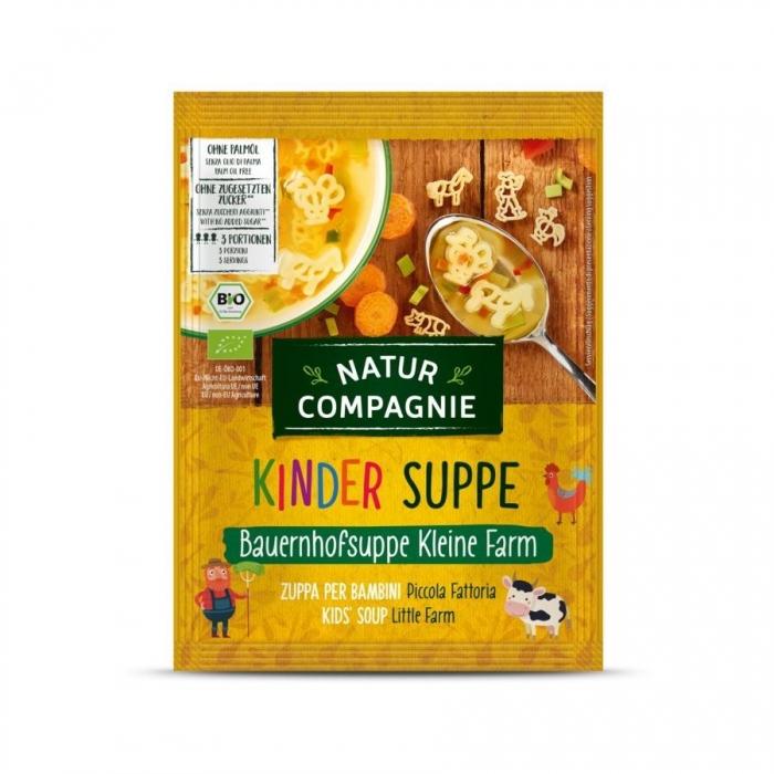 Dārzeņu zupa bērniem ar dzīvnieku formas makaroniem, paciņa,  BIO 50 g, NATUR COMPANIE