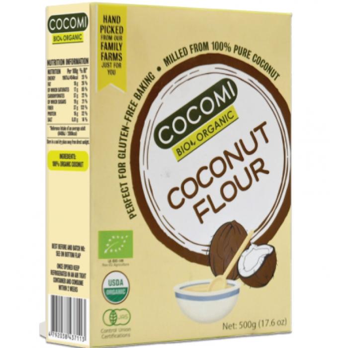 Kokosriekstu milti BIO COCOMI bezglutēna 500g