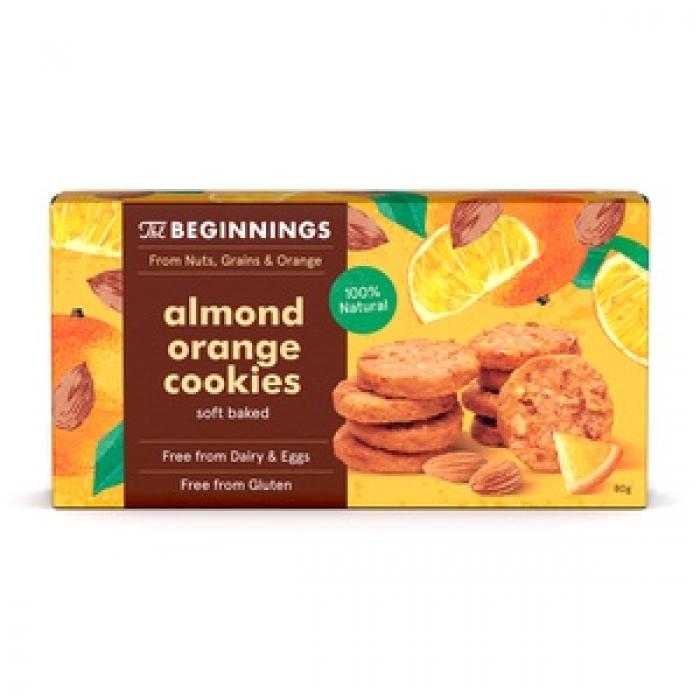 Mandeļu apelsīnu cepumi 80g, THE BEGINNINGS