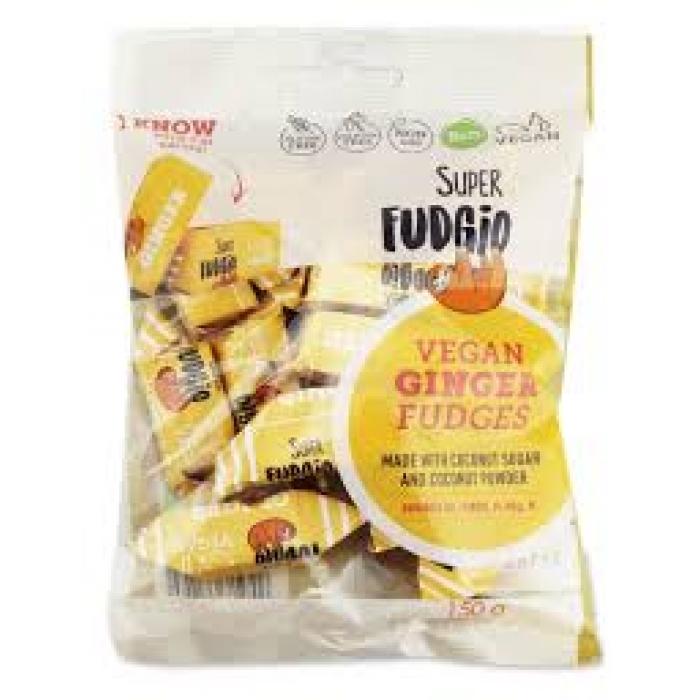 Vegāniskas fadža konfektes ar ingveru BIO SUPER FUDGIO, 150g