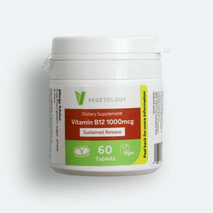 Vitamin B12 1000μg 60 tabl. VEGETOLOGY