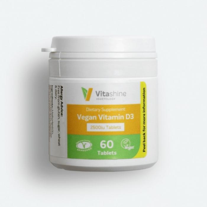 D3 vitamīns 2500IU, tab.