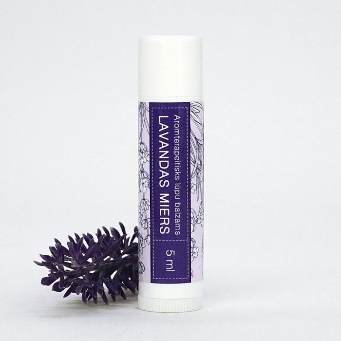 Lavandas miers aromterapeitisks lūpu balzams AROMAMA 5ml