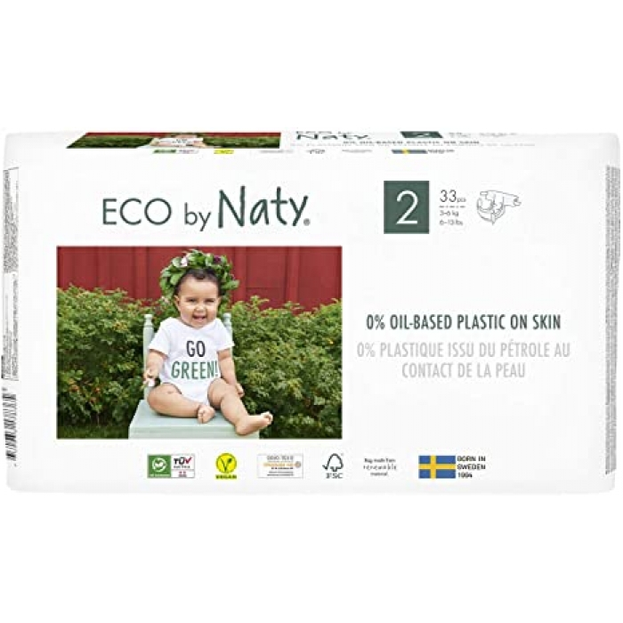 Autiņbiksītes N2, 3-6kg, 33 gab, ECO BY NATY