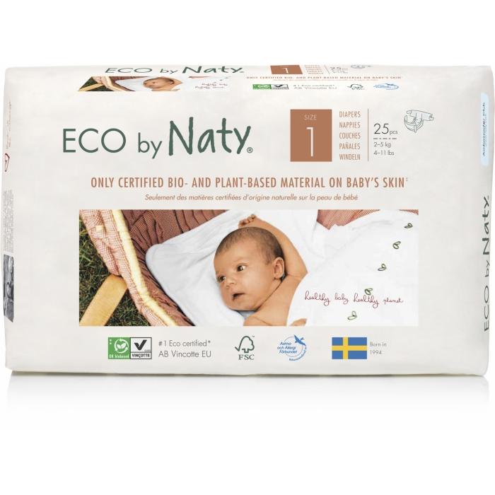 Autiņbiksītes N1, 2-5kg 25 gab, ECO BY NATY