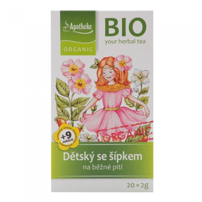Augļu tēja bērniem, ar mežrozīti BIO 40g