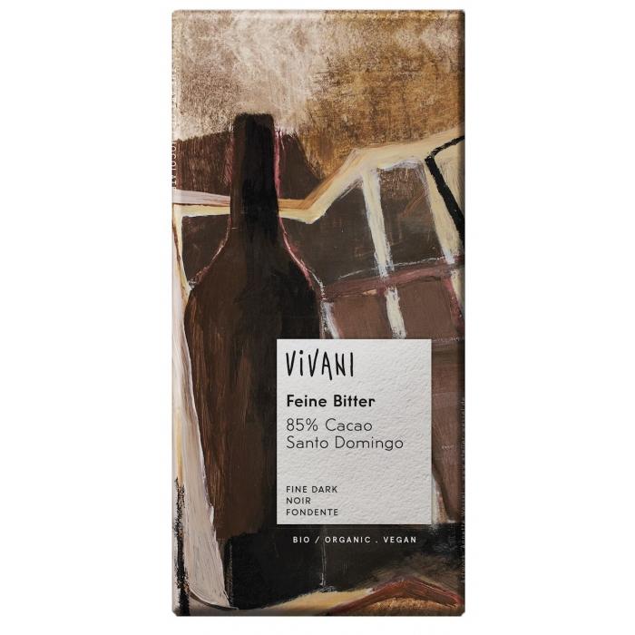 Feine Bitter 85% - tumšā šokolāde BIO 100 g