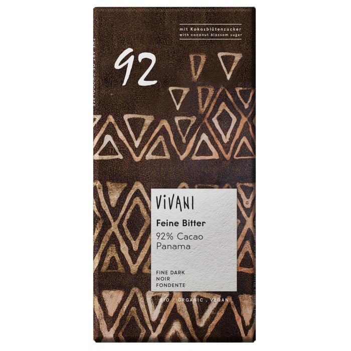 Feine Bitter 92% - tumšā šokolāde ar kokosriekstu cukuru BIO 80g
