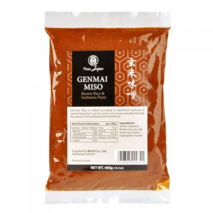 Genmai, brūno rīsu miso pasta  400g