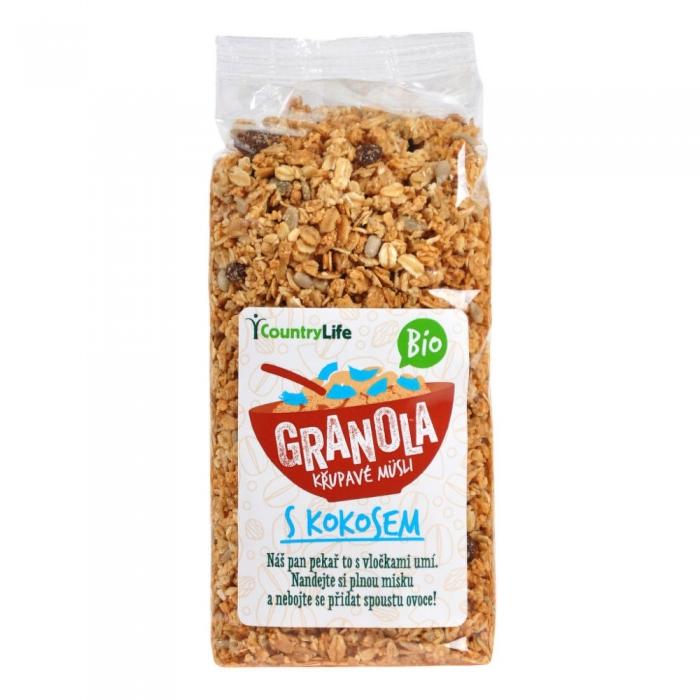 Granola - kokosriekstu kraukšķīgais musli BIO 350g