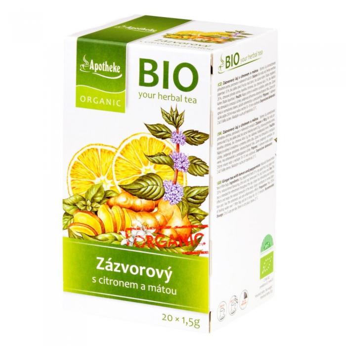Ingvera tēja ar citronu un piparmētru BIO 30g
