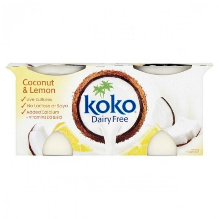 Kokosriekstu un citrona jogurta alternatīva, KOKO, 2x125g
