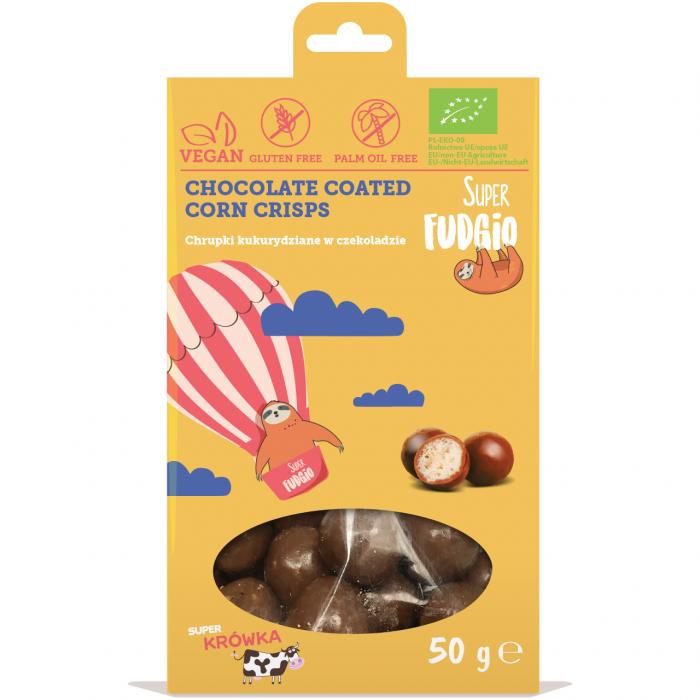 Kukurūzas bumbiņas šokolādē BIO 50g