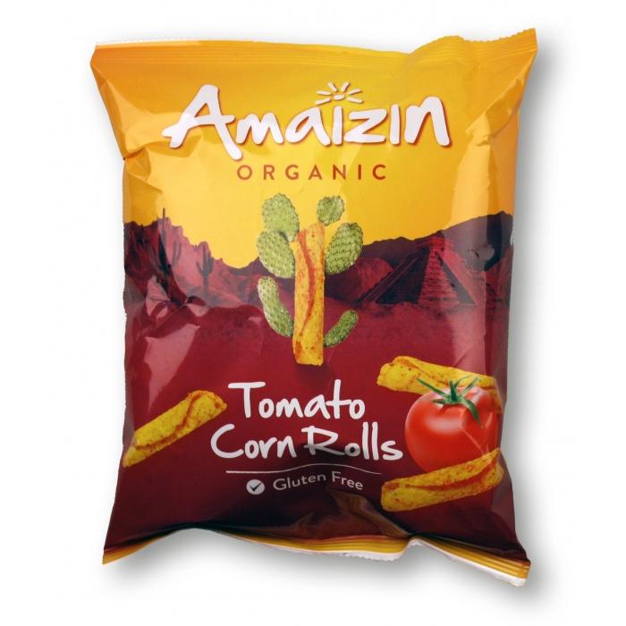 Kukurūzas rullīši ar tomātu garšu BIO 100g