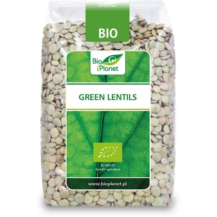 Lēcas, gaiši zaļas BIO 500g