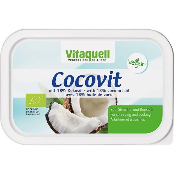 Margarīns ar kokosriekstu eļļu, BIO, VITAQUELL, 250g