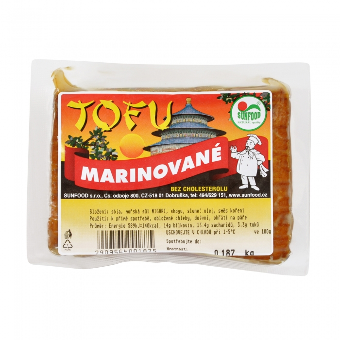 Marinēts tofu, SUNFOOD, 200g +/-20g (200g cena)