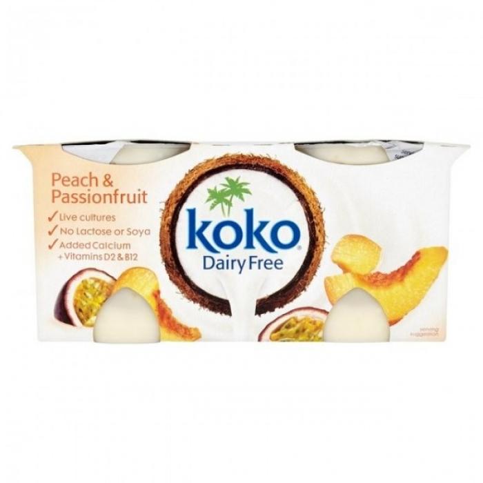 Persiku un pasifloru jogurta alternatīva, KOKO, 2x125g