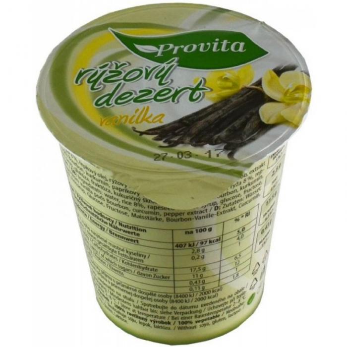 Rīsu deserts ar vaniļu, PROVITA, 150g