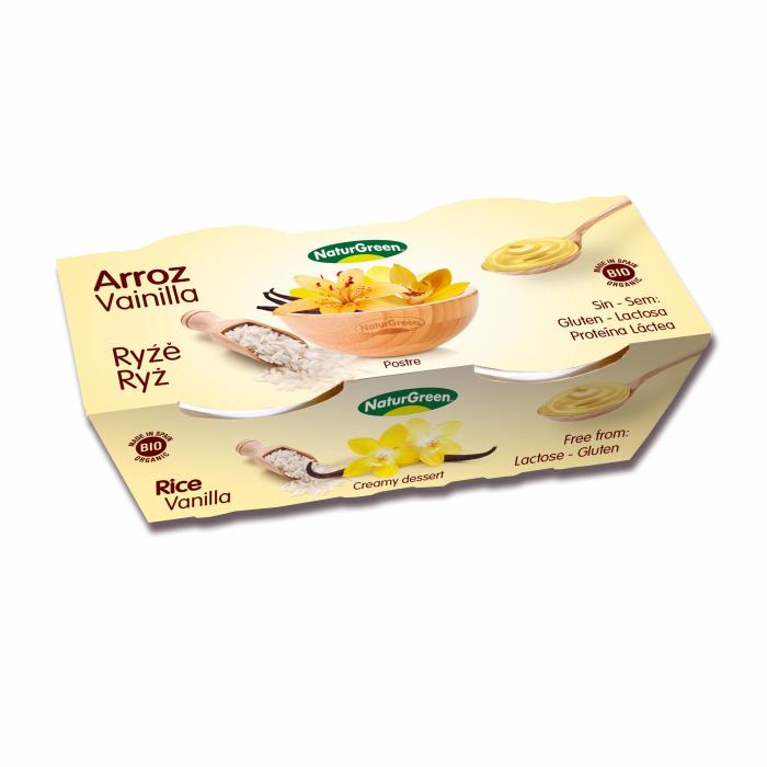 Rīsu deserts ar vaniļu BIO 2×125g