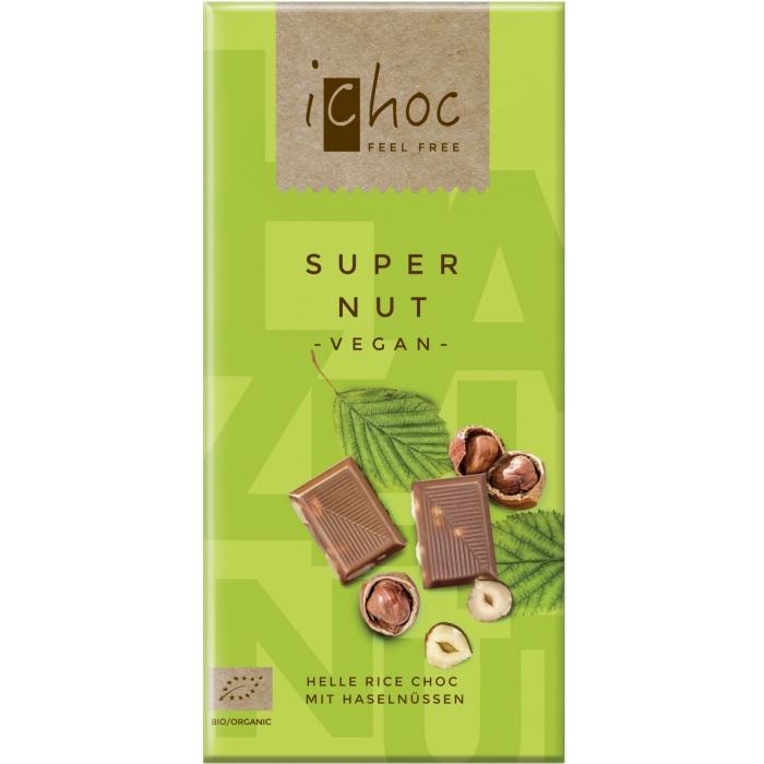 """Rīsu piena šokolāde """"Super Nut"""" BIO 80g"""
