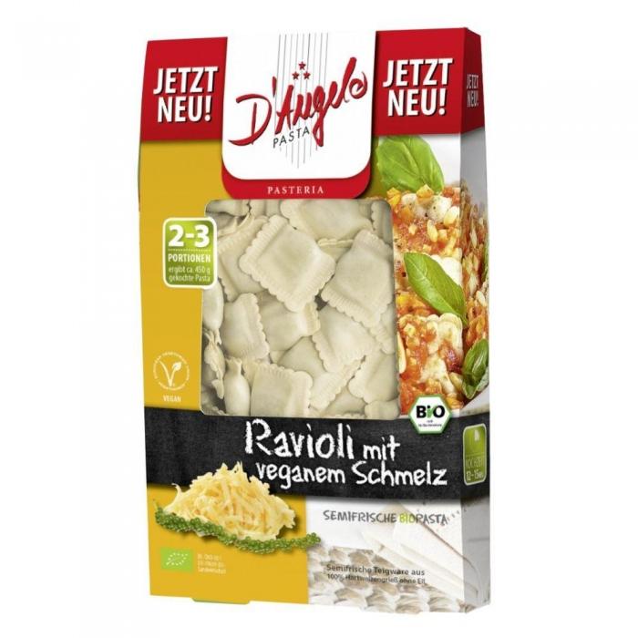 Ravioli ar vegan kausēto sieru BIO 250g
