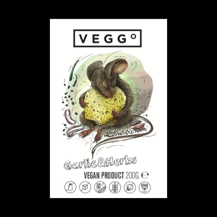 Siera alternatīva ar ķiploku un garšaugiem, VEGGO, 200g