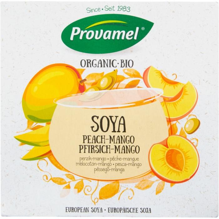 Sojas jogurts ar persikiem un mango BIO 4x125g