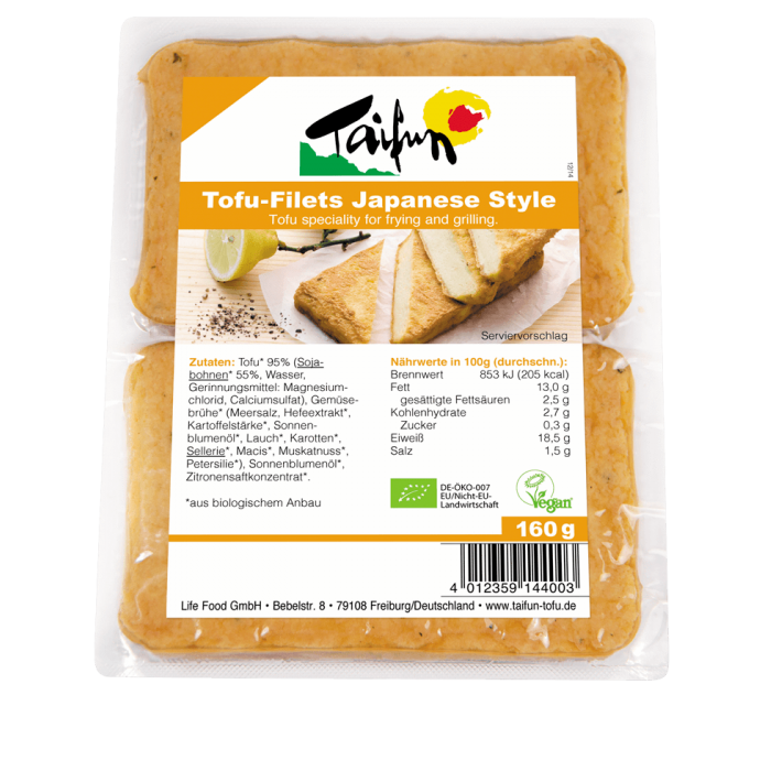Tofu filejas japāņu stilā, BIO, TAIFUN, 160 g