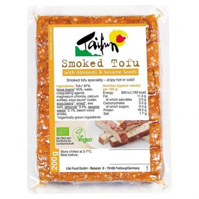 Tofu kūpināts ar mandelēm un sezamu, BIO, TAIFUN, 200g