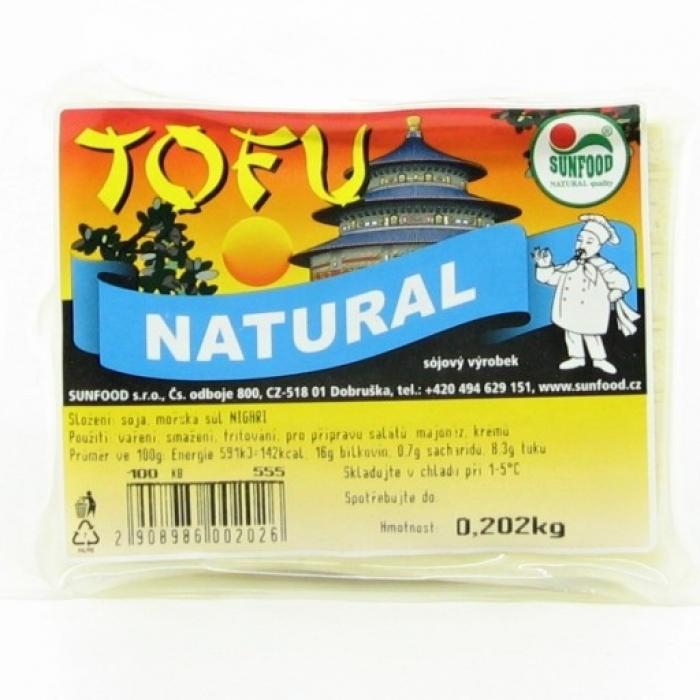 Tofu, bez piedevām, SUNFOOD, 200g +/-20g
