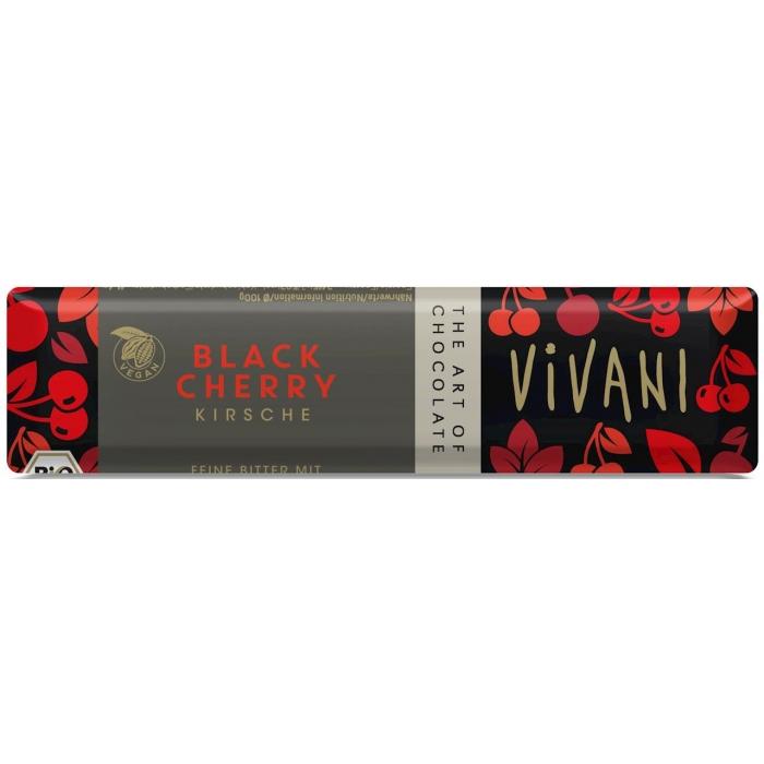 Tumšā šokolāde ar ķiršu gabaliņiem BIO 35g