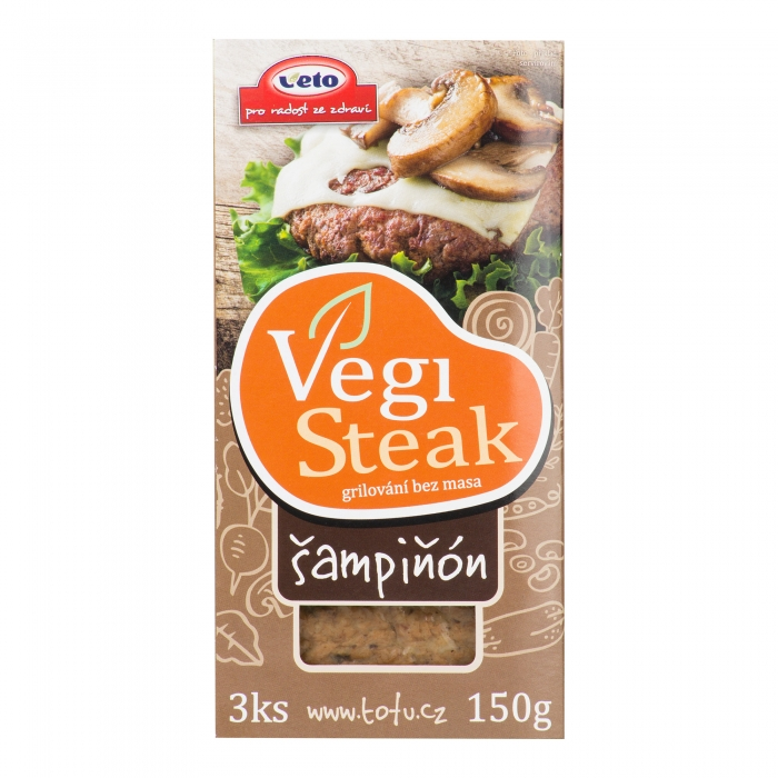 """Vegi steak"" ar šampinjoniem, VETO ECO, 150g"