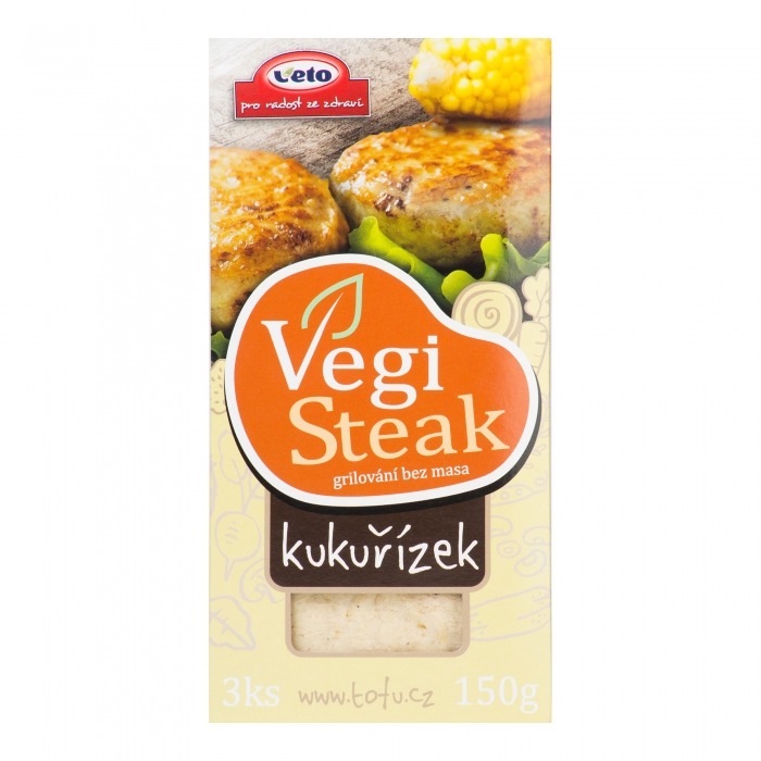 """Vegi steak"" ar kukurūzu, VETO ECO, 150g"