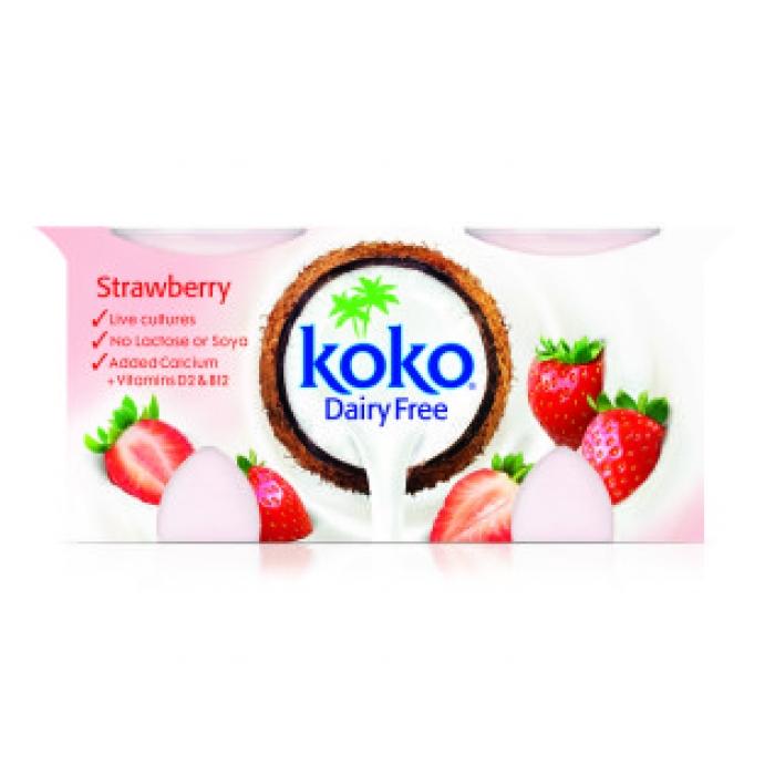 Zemeņu jogurta alternatīva, KOKO, 2x125g