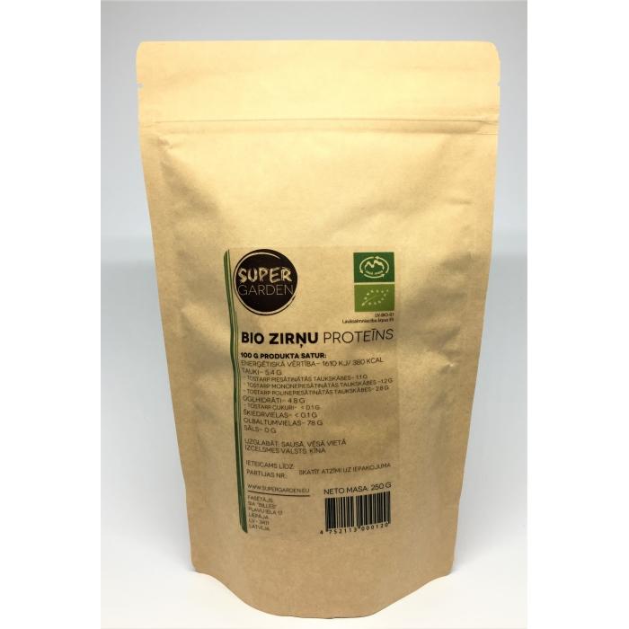 Zirņu proteīna pulveris BIO 250 g