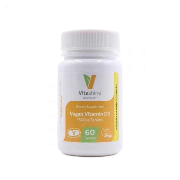 Vitashine Vegan Vitamin D3 2500iu VEGETOLOGY 60 tabl.